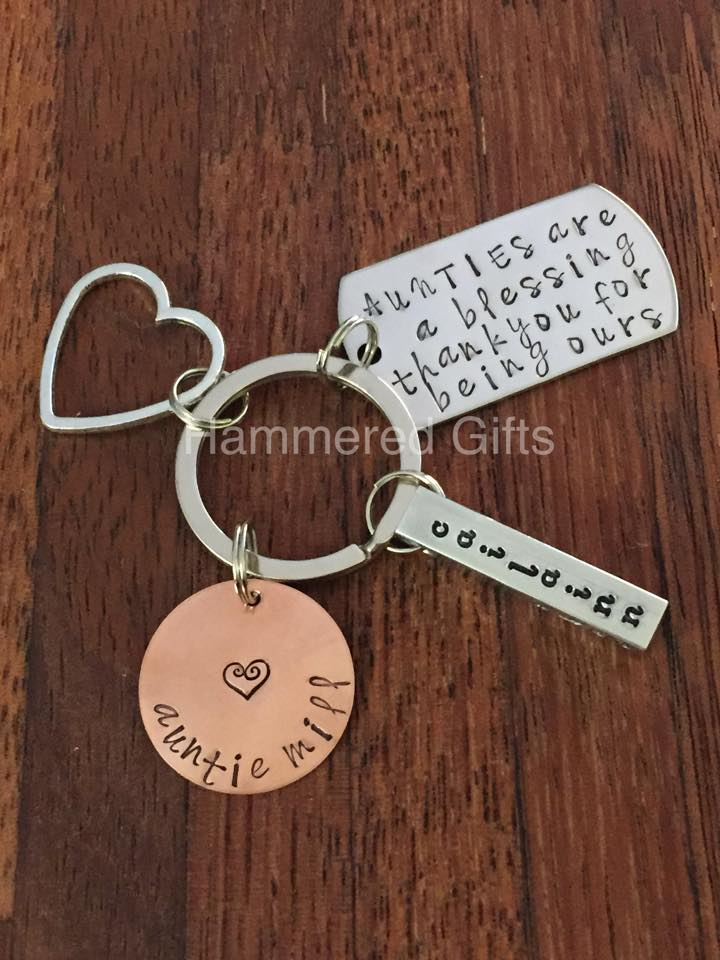 Hammered Gifts – Best Auntie Keyring daa079a46e36